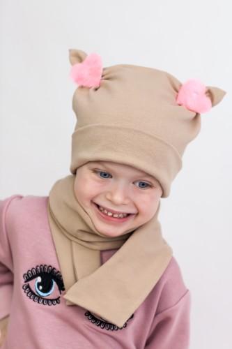 Ruda kepurytė + šalikėlis