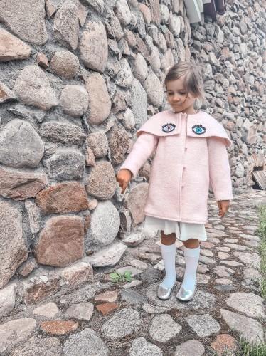 Rožinis princesių paltukas